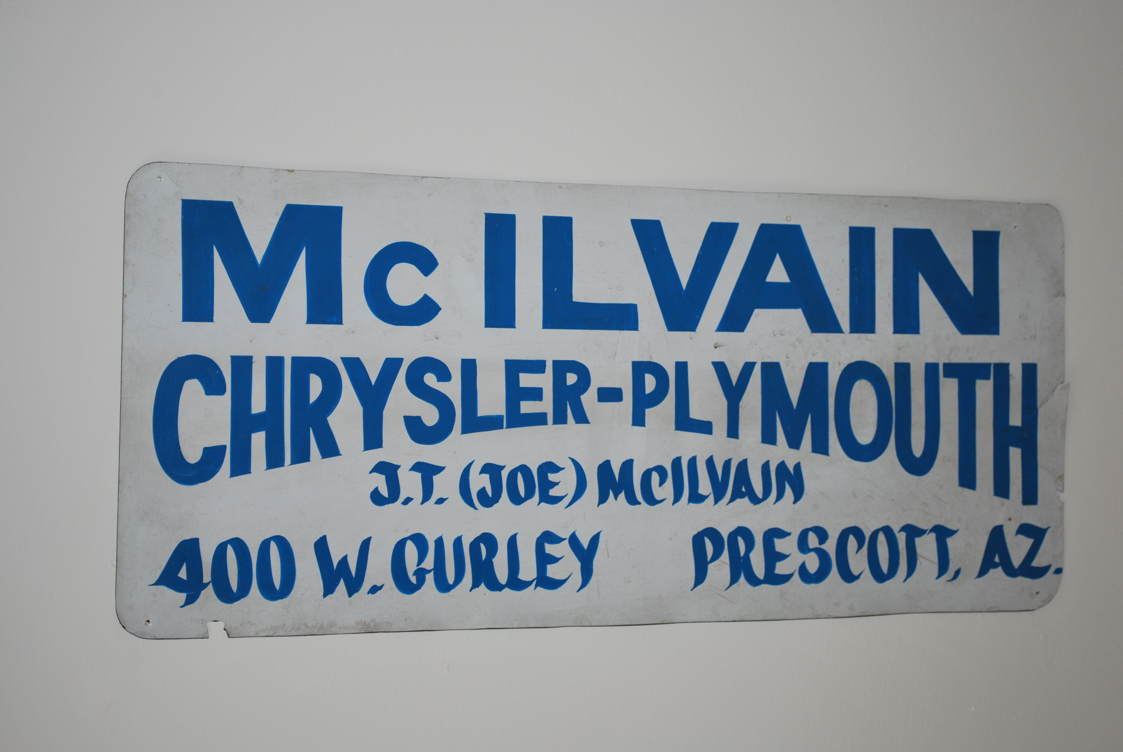 Mcilvain Chrysler Plymouth Sign