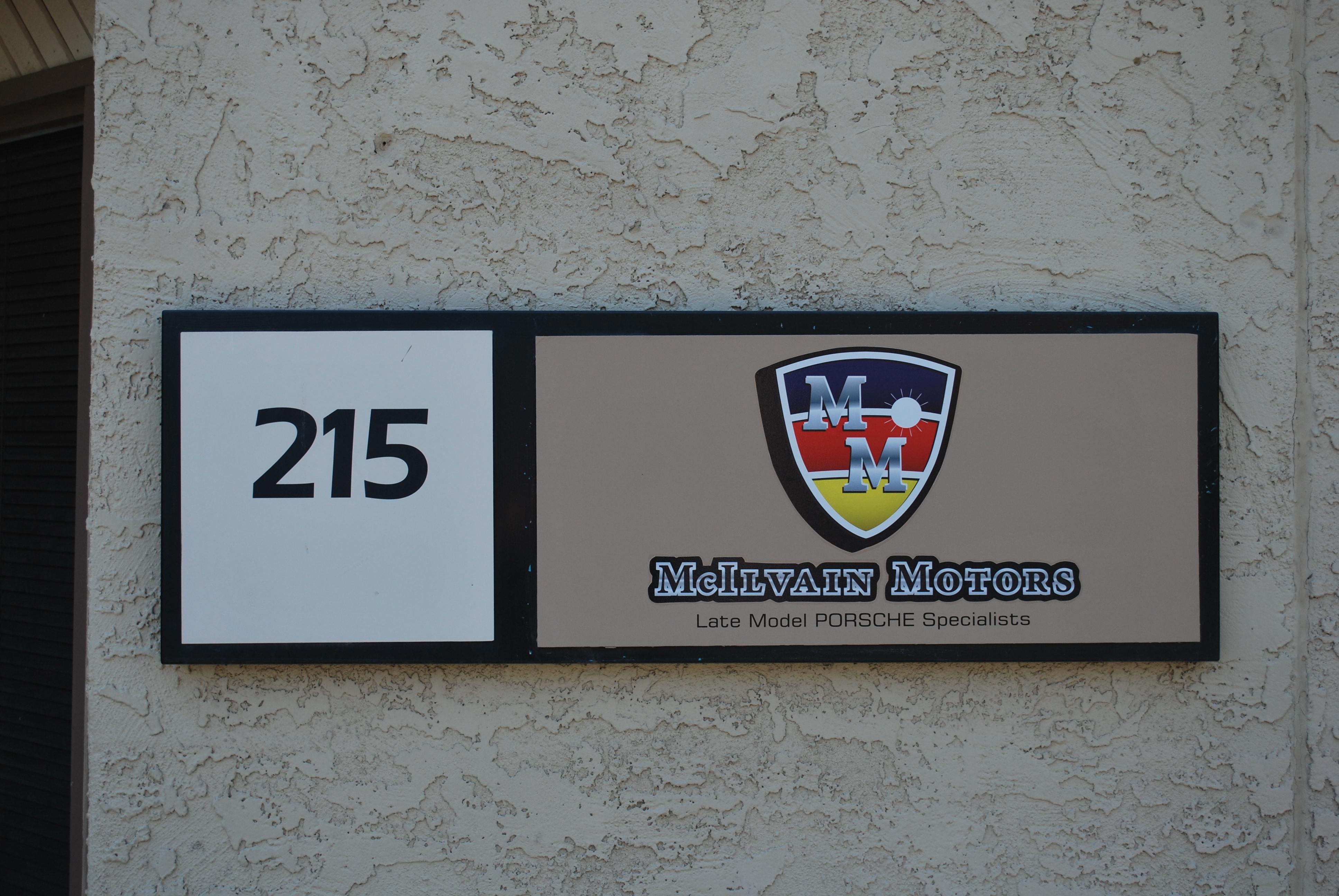 Mcilvain Motors Front Sign