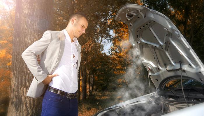 Overheated Porsche Engine